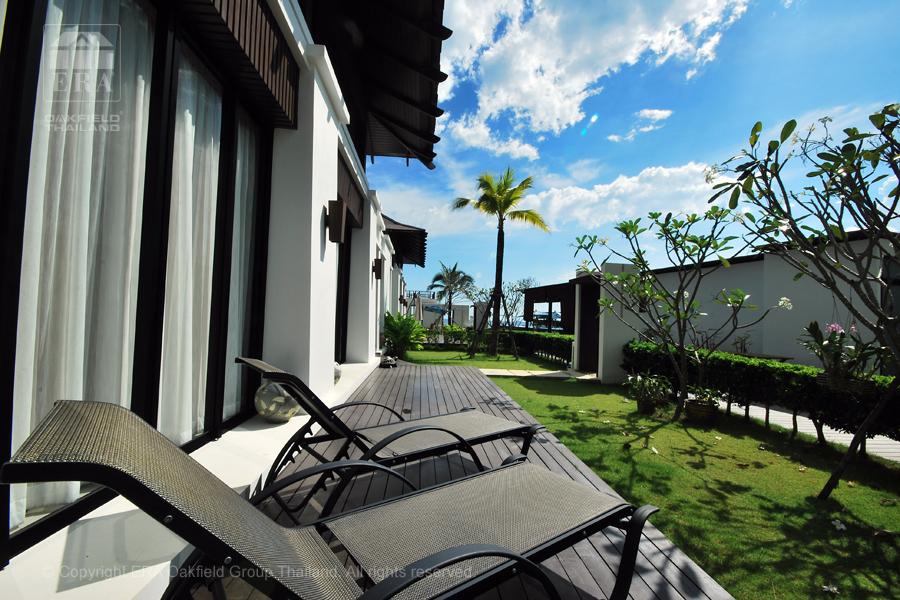Hyra hus Rayong uteplats