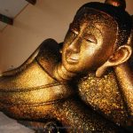 Laying golden Buddha