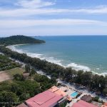 bird view photo of Mae Ramphung beach in Rayong Thailand
