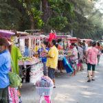 Street vendors along beach road