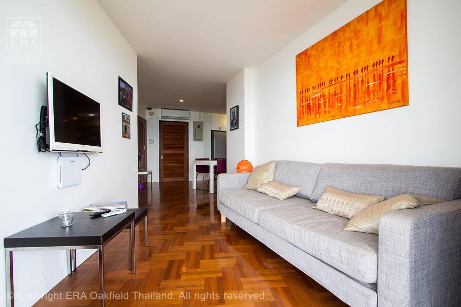 Hyra lägenhet Ban Phe vardagsrum